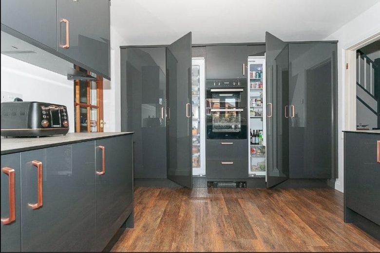 grey-kitchens-rose-gold